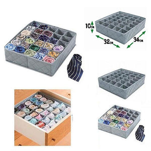 30 Grid Foldable Storage Drawer Organizer for Socks,Underwear and Accessories