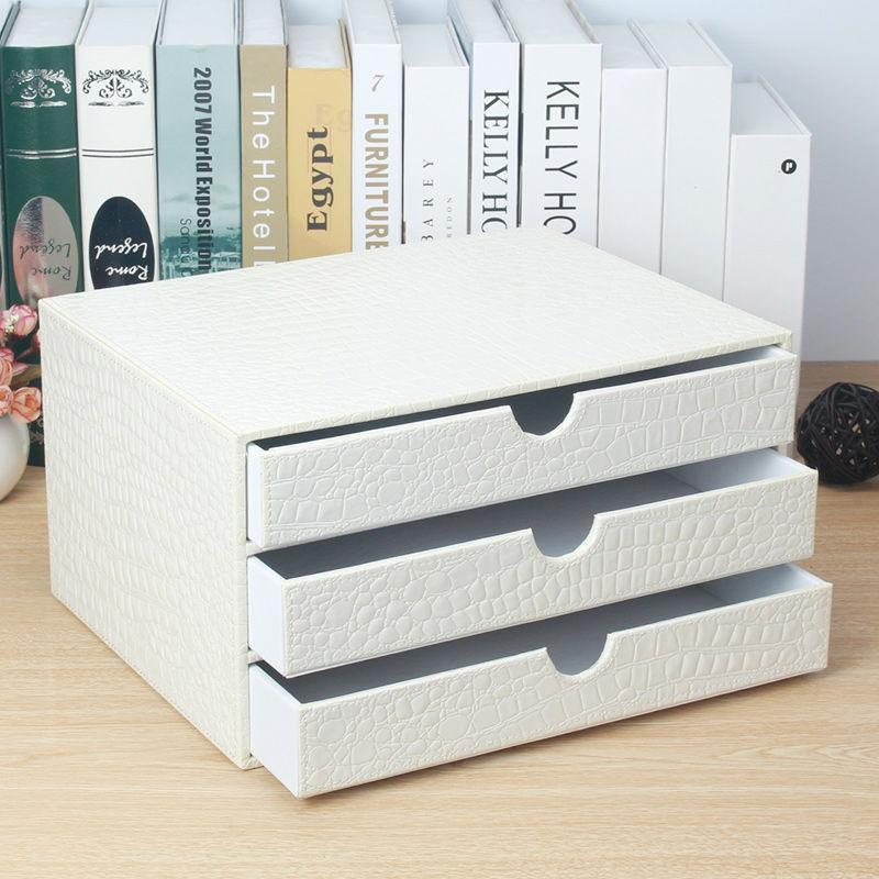 3 DRAWER WHITE DESK ORGANIZER – WHITE WOOD FILE CABINET