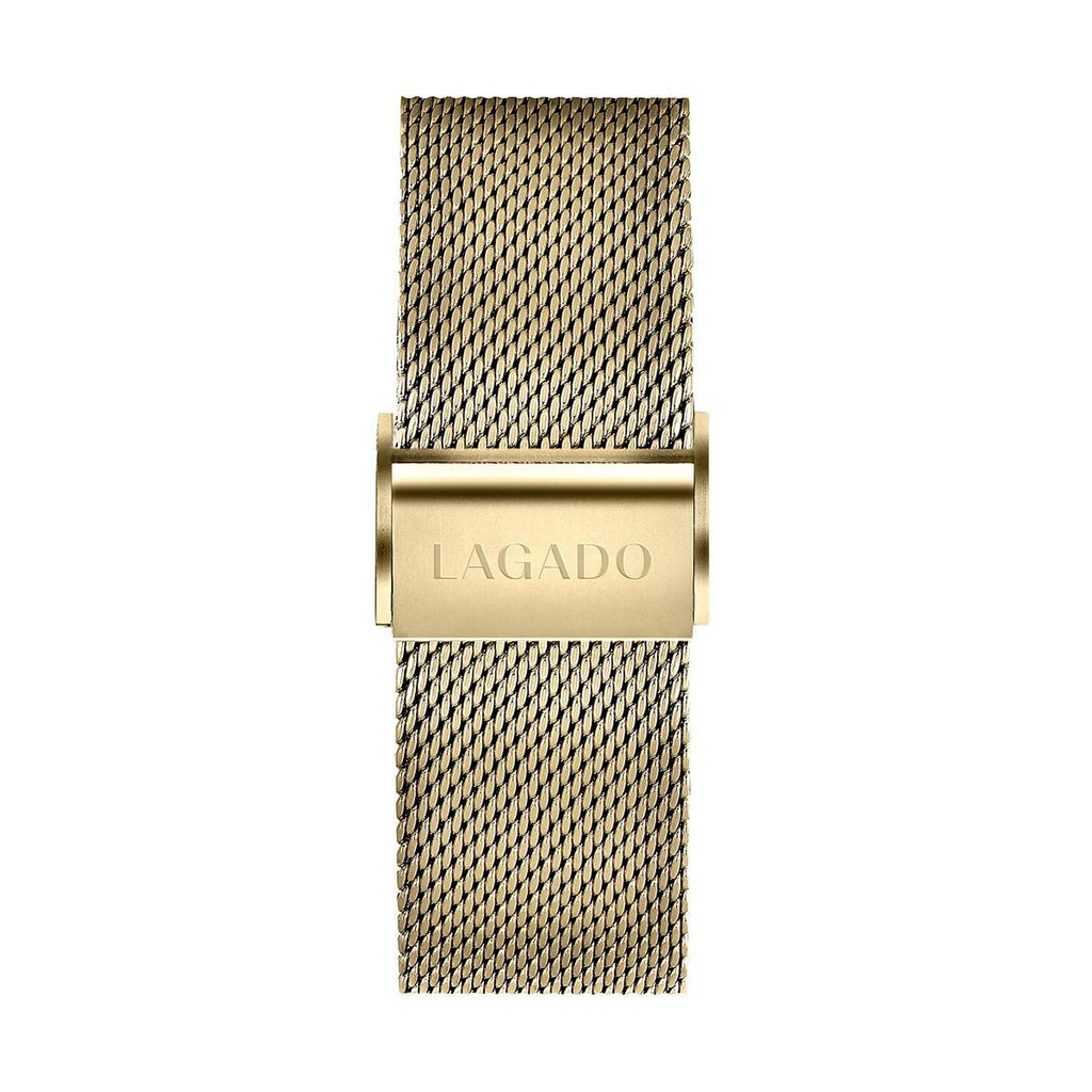 Khaki Gold Mesh-Lagado Watches