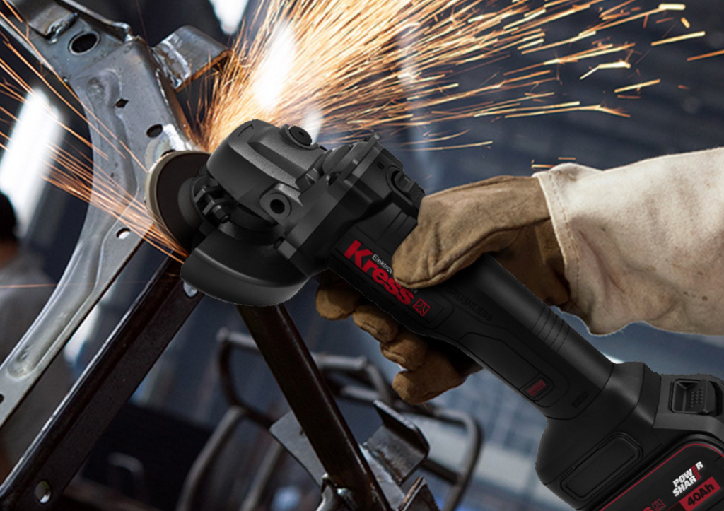 20-V Li-ion Brushless Moto 100mm Angle Grinder KU800