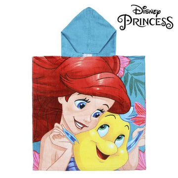 Poncho-Asciugamano con Cappuccio Little Mermaid Princesses Disney 74218