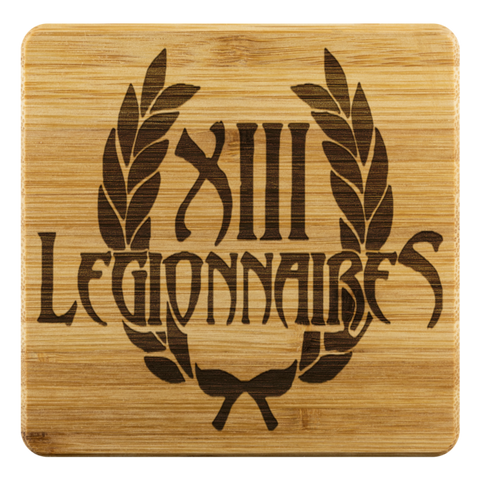 4 Bamboo Coasters Etched