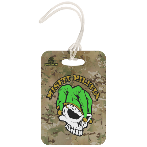 Metal Luggage Tag, Misfit Militia