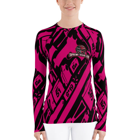 All Over Print Long Sleeve Compression Shirt Women's