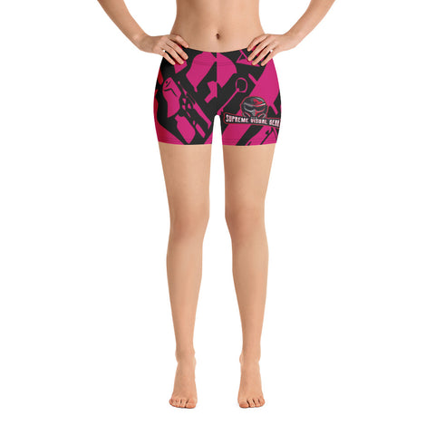 All Over Print Compression Shorts Women's