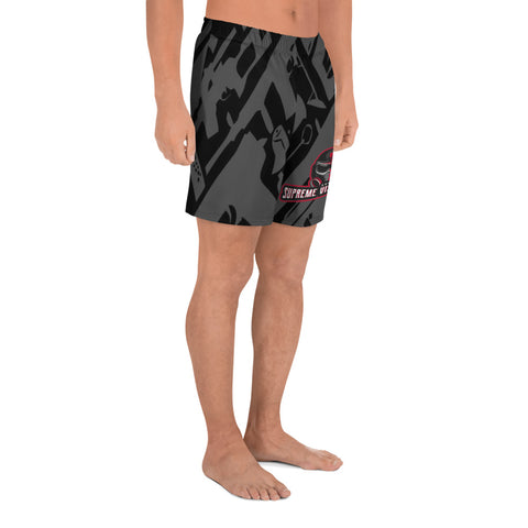 All Over Print Athletic Shorts Men's SVG Grey