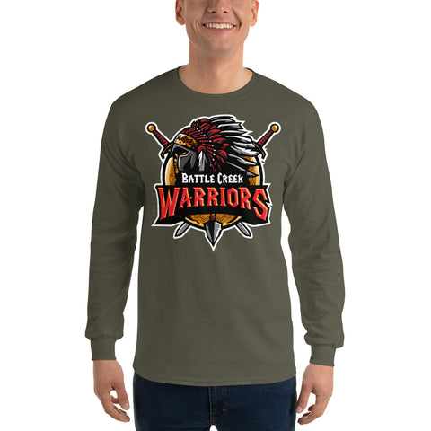 Front Long Sleeve T-Shirt, Battle Creek Warriors