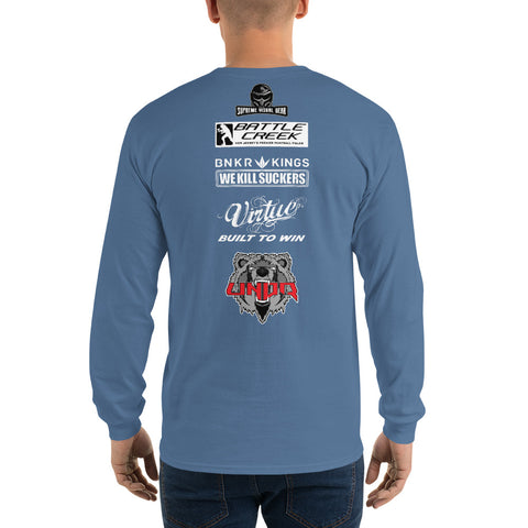 Front/Back Long Sleeve T-Shirt, Battle Creek Warriors
