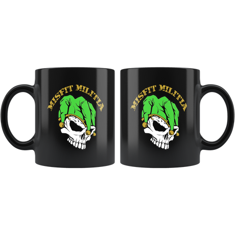 11oz Black Coffee Mug, Misfit Militia