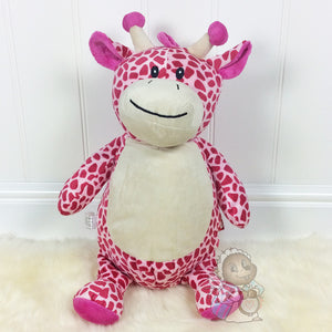 Personalised Giraffe - Cubby - Pink