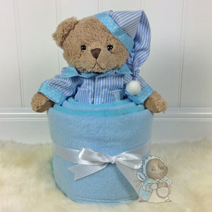 Soft Blue / Aqua Fleece Blanket Gift Set