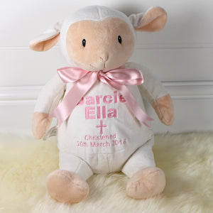 Personalised Christening Lamb