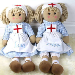 Personalised Large Nurse Rag Doll 60cm tall