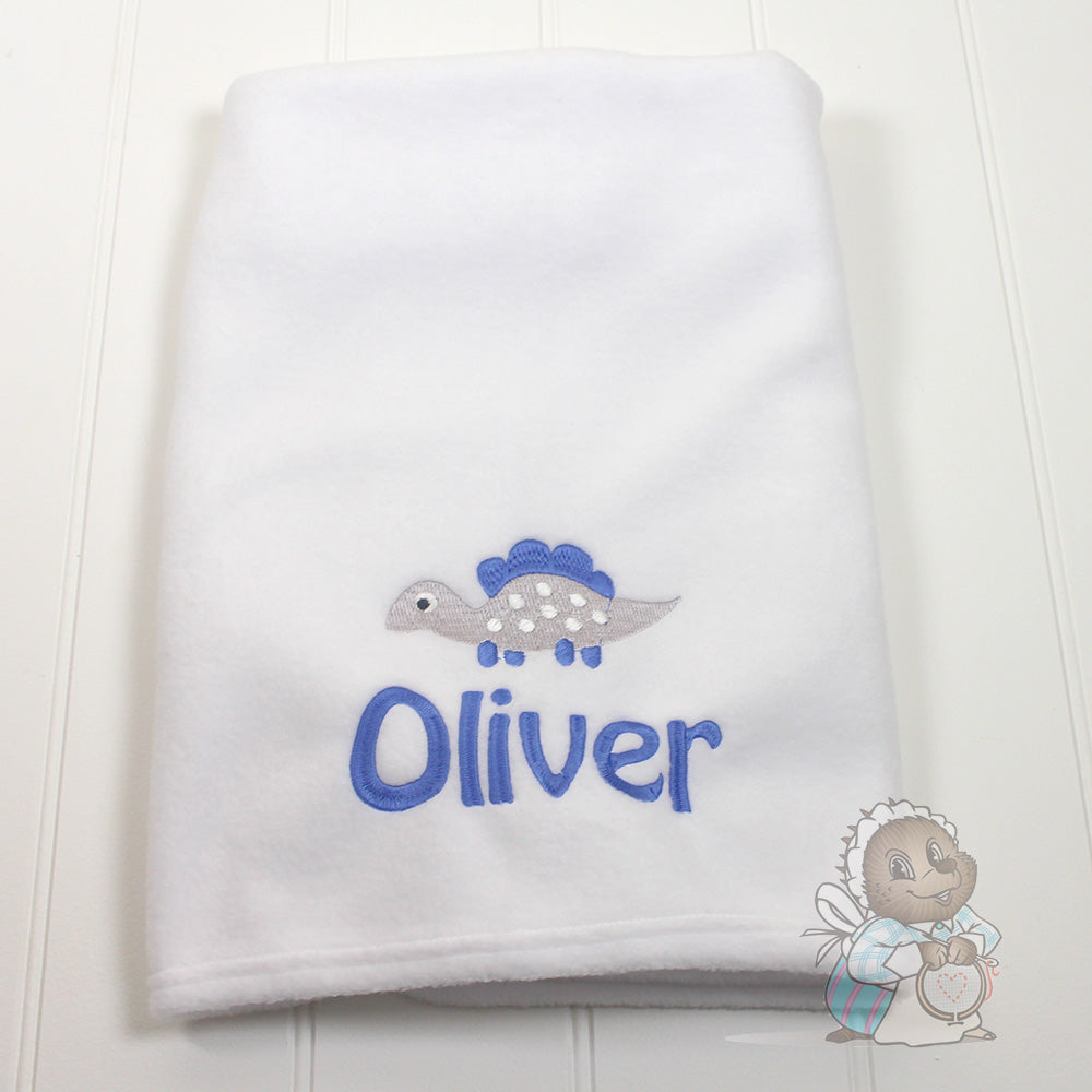 Personalised Baby Blanket -Dinosaur Design