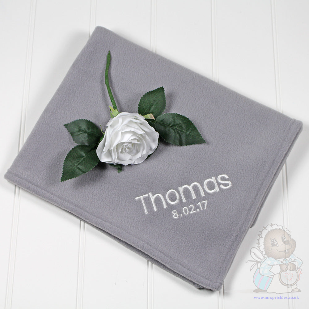 Soft Grey Fleece Blanket