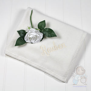Soft Cream Fleece Blanket