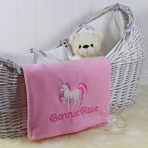 Personalised Baby Blanket - Unicorn Design