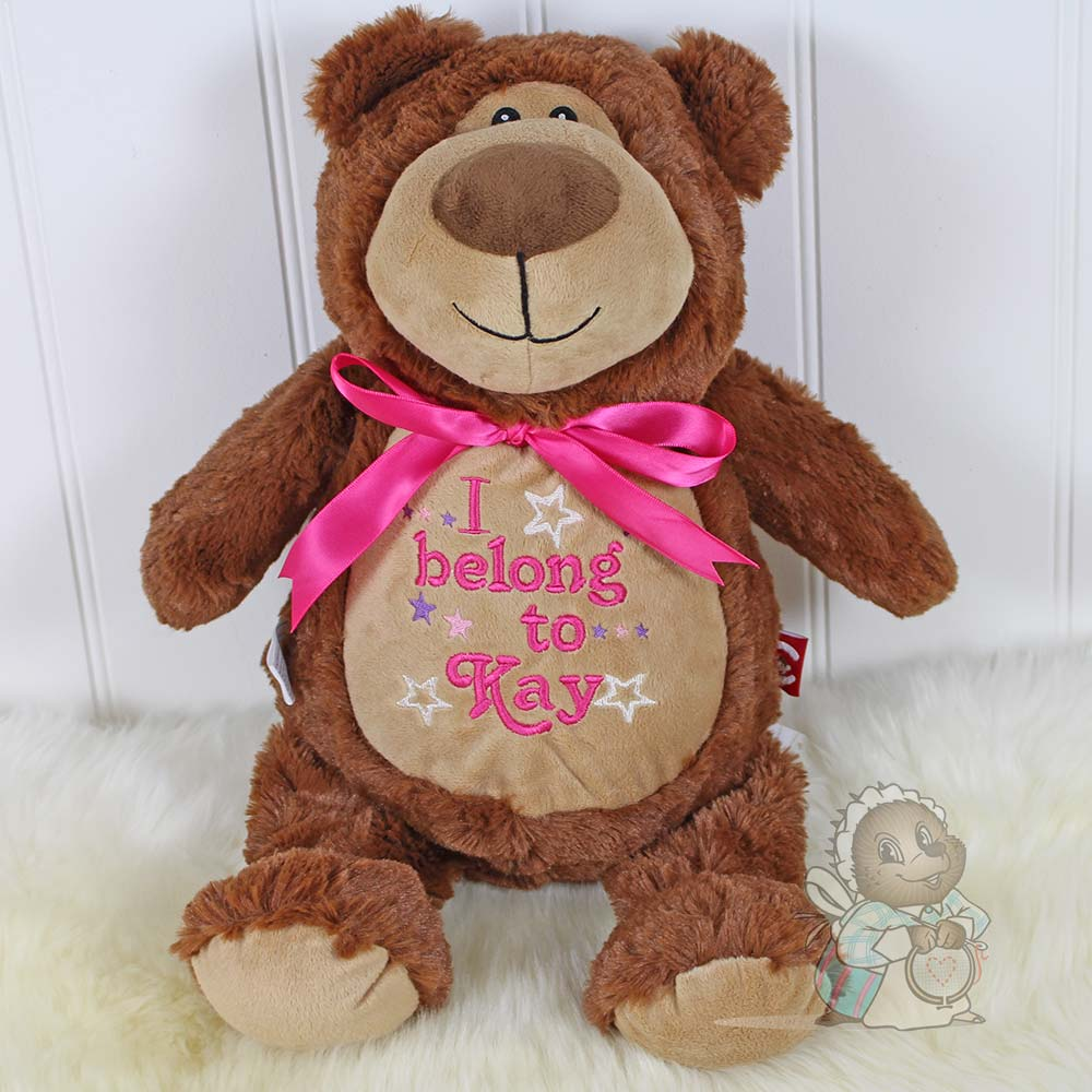 SUPER SIZED 60CM TALL Personalised Brown Bear