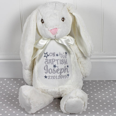 Personalised Birth Details Soft Toy - Cream Bunny