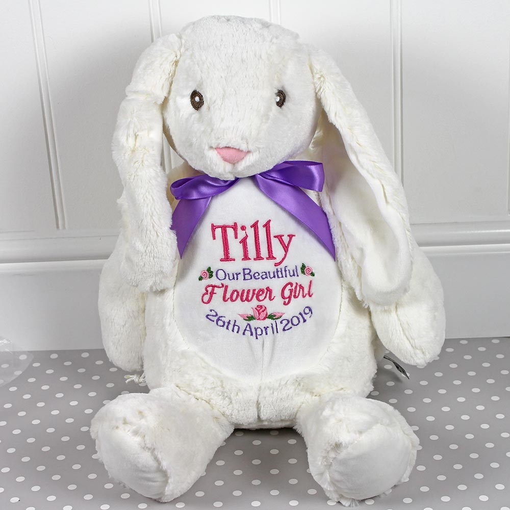 Personalised Bunny - Flower Girl Design - Mumbles