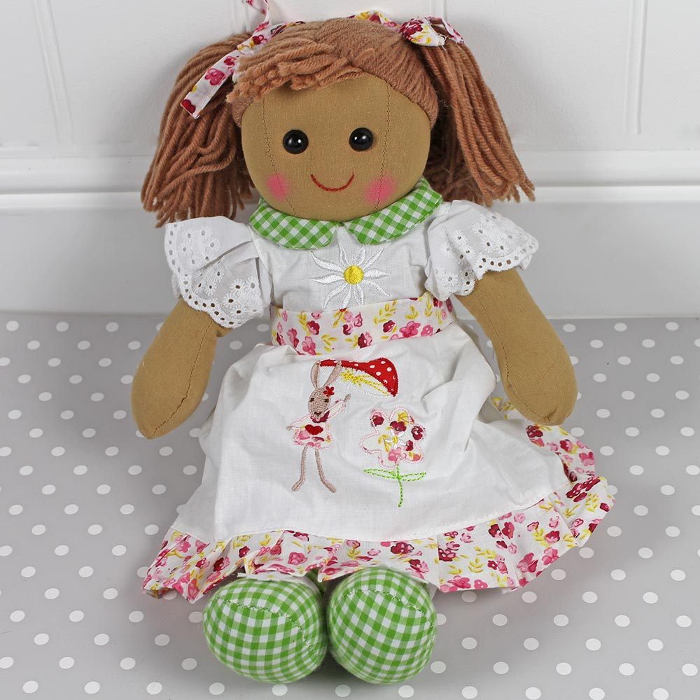 Personalised Rag Doll, Bunny Dress