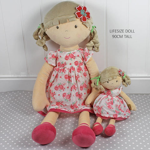 Personalised Large Rag Doll Grace 90cm