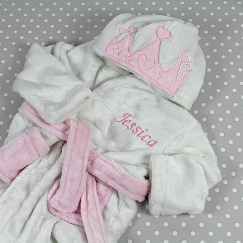 Personalised Princess Hooded Dressing Gown