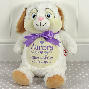 Personalised White Bunny - Cubby