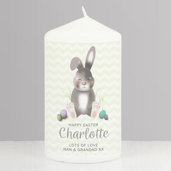 Personalised Easter Bunny Pillar Candle