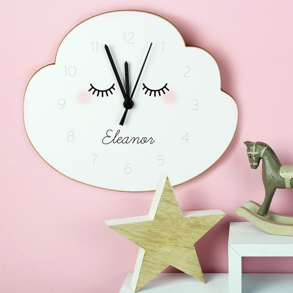 Personalised Wooden Clock Cloud design