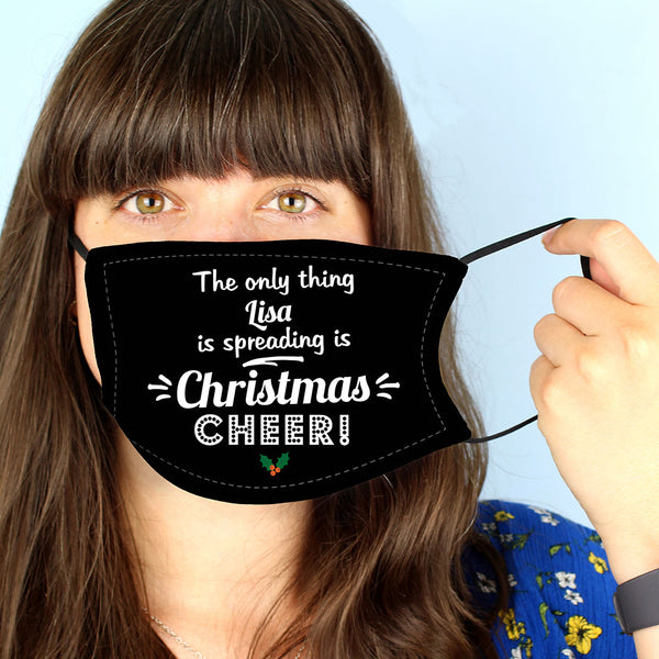 Personalised 'Christmas Cheer' Face Covering