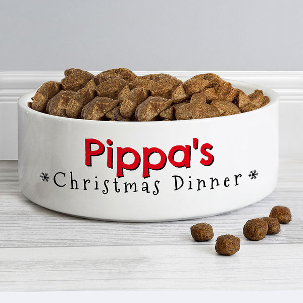 Personalised christmas pet bowl