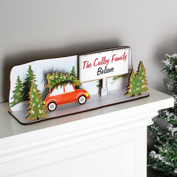 Personalised Christmas Sign - Driving Home For Christmas