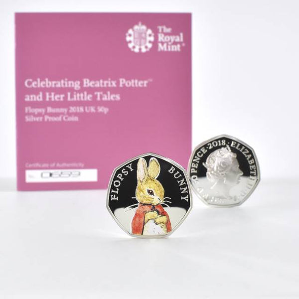 Royal Mint Silver Proof Coin & Book Set - Flopsy Bunny