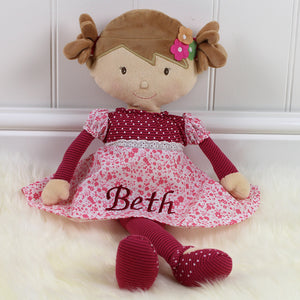 Personalised Rag Doll Rosie
