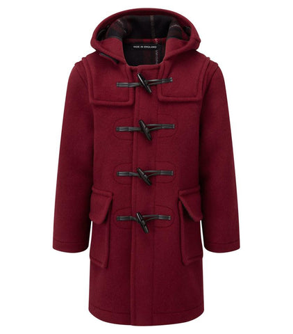 childs duffle coat burgundy