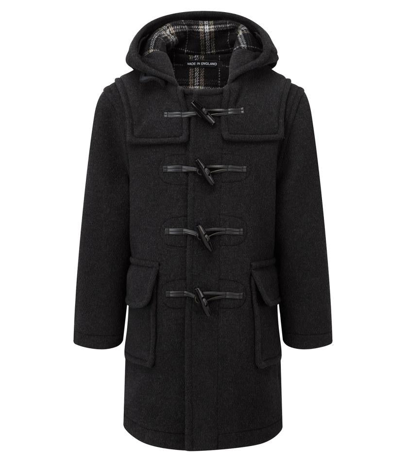 childs duffle coat charcoal