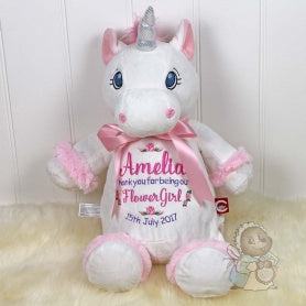 Personalised Unicorn - Flower Girl Design