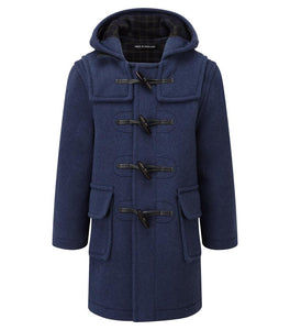 childs duffle coat indigo