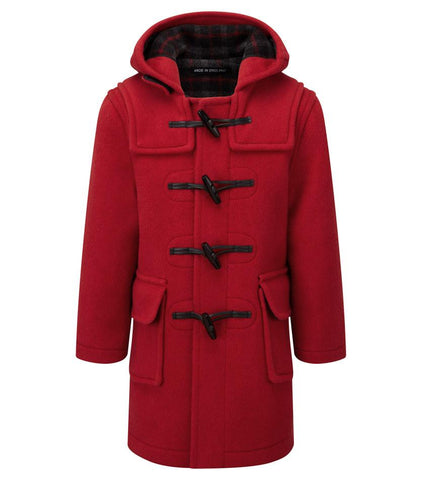 duffle coat child colour red