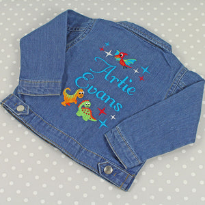 personalised-denim-jacket-babies-dinosaur