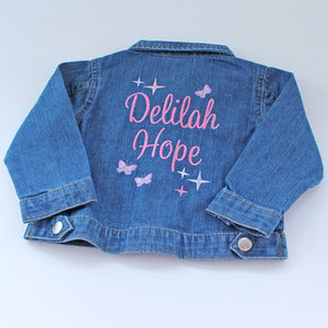 Personalised Denim Jacket For Babies & Toddlers