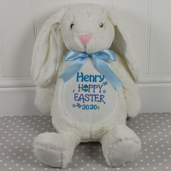 Personalised Easter Bunny - 'Hoppy Easter' Design
