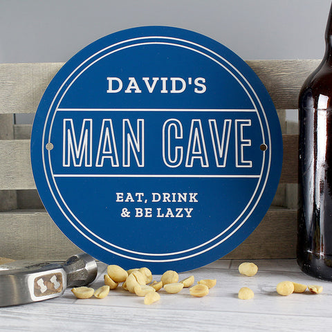 personalised man cave plaque