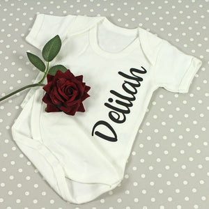 Printed Name Bodysuit