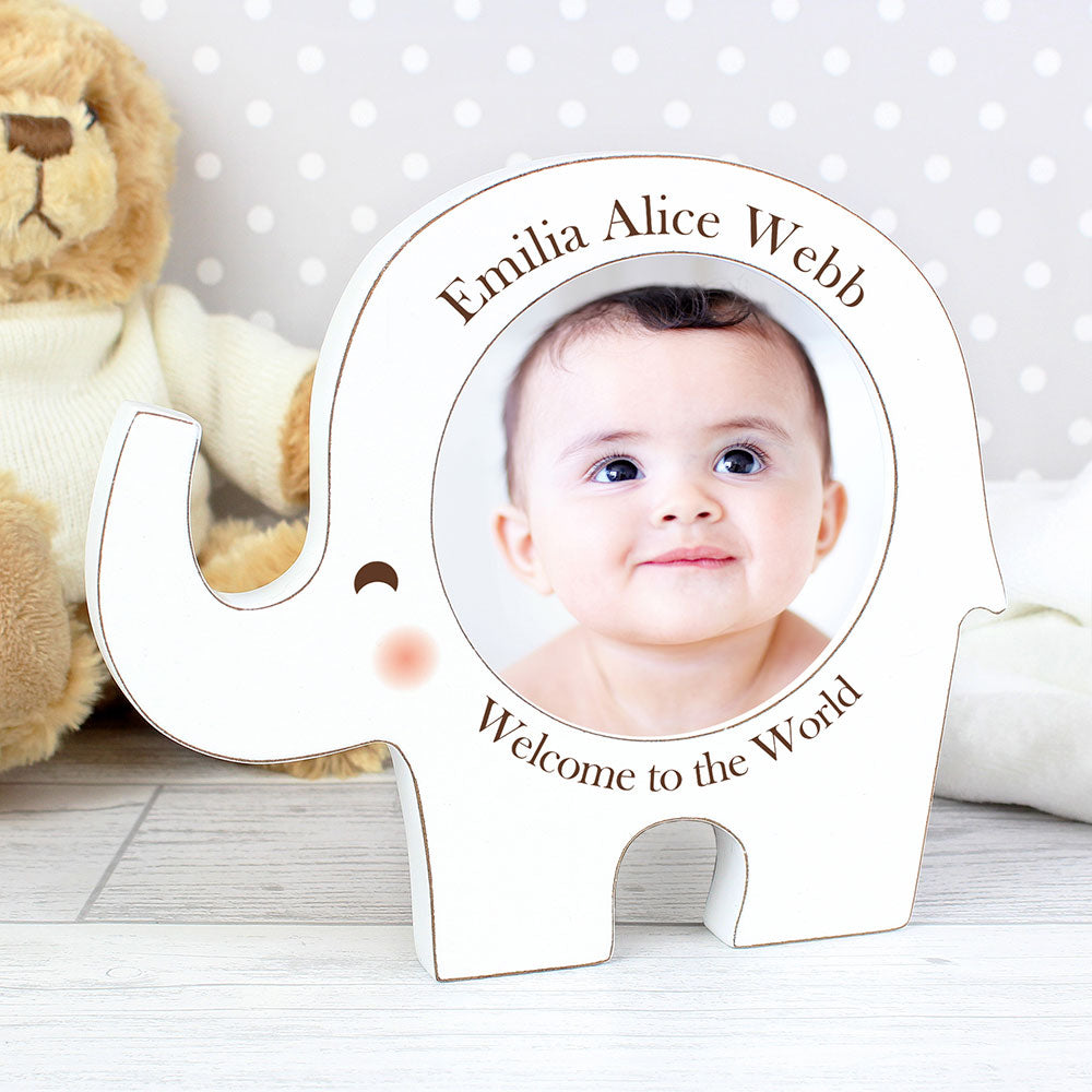 Personalised Photo Frame - Elephant Design