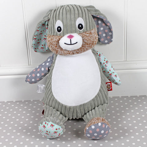 Personalised Bunny -Soft Polka Dot Fabric