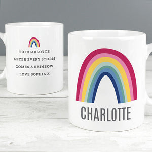 Personalised Rainbow Mug