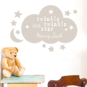 Personalised Nursery Wall Art - Twinkle Twinkle