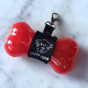 Red Tatty Head Dog Treat Dispenser and Recall Training Aid front view